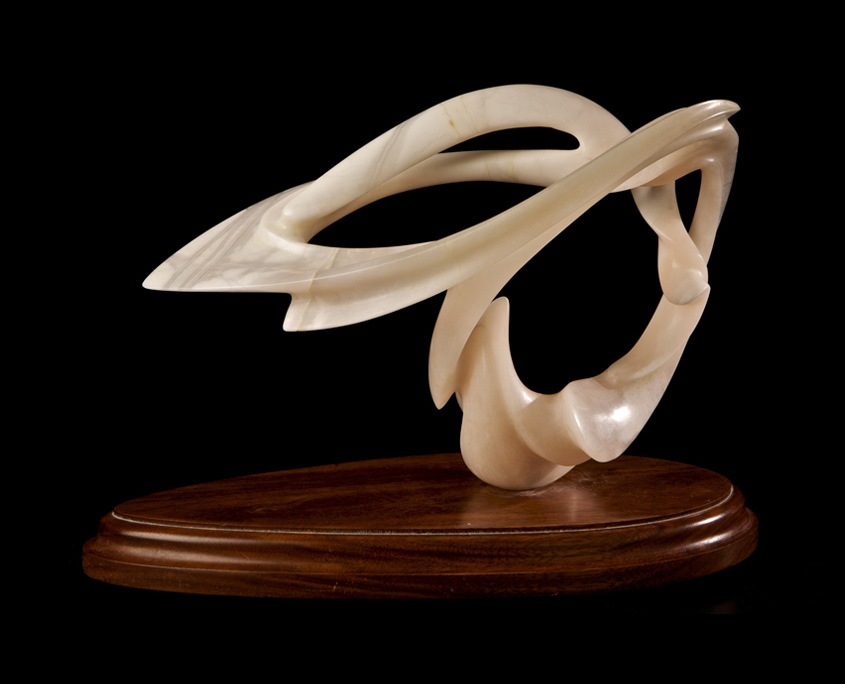 Alabaster Sculpture - Angelic by Brian Grossman