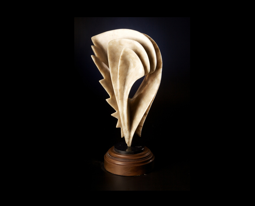 Alabaster Sculpture - Needle in a Haystack by Brian Grossman