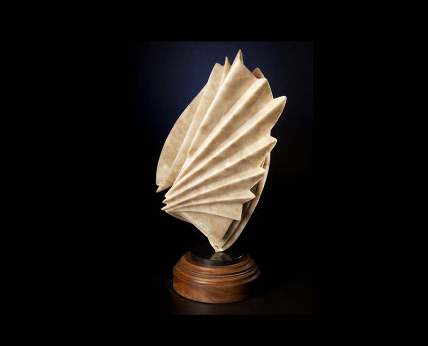 Alabaster Sculpture - Needle in a Haystack by Brian Grossman - 2nd view
