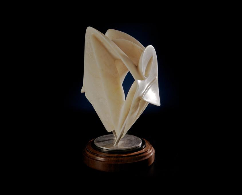 Alabaster Sculpture - Ancestral Fires by Brian Grossman