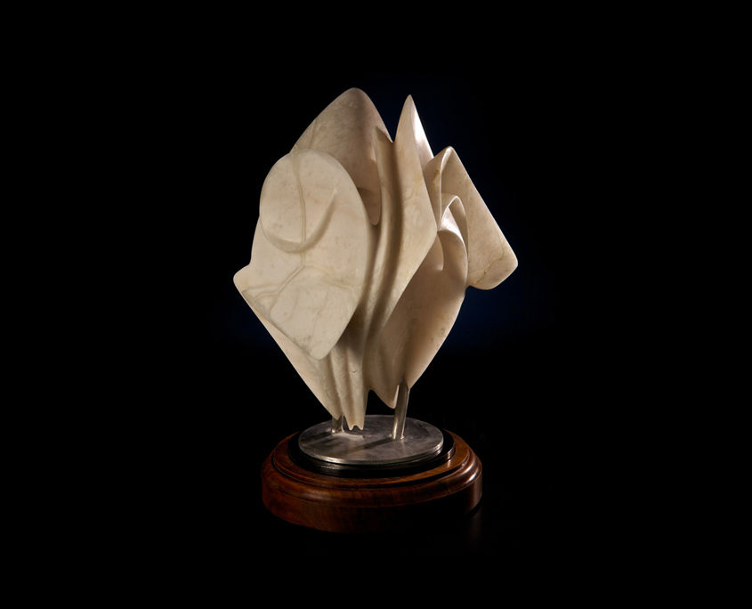 Alabaster Sculpture - Ancestral Fires by Brian Grossman - 2nd view