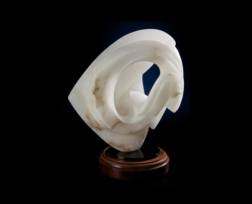 Alabaster Sculpture - Translucent Simplicity II by Brian Grossman - 2nd view