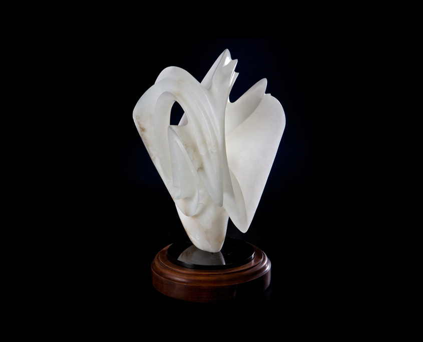 Alabaster Sculpture - Translucent Simplicity by Brian Grossman