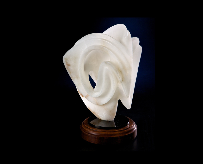 Alabaster Sculpture - Translucent Simplicity by Brian Grossman - 2nd view