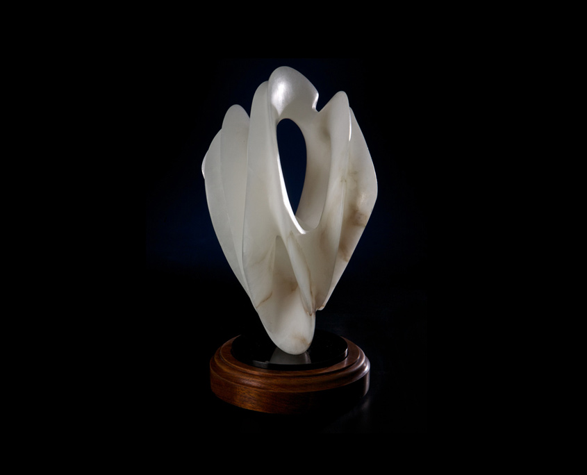 Alabaster Sculpture - Translucent Simplicity by Brian Grossman - 3rd view