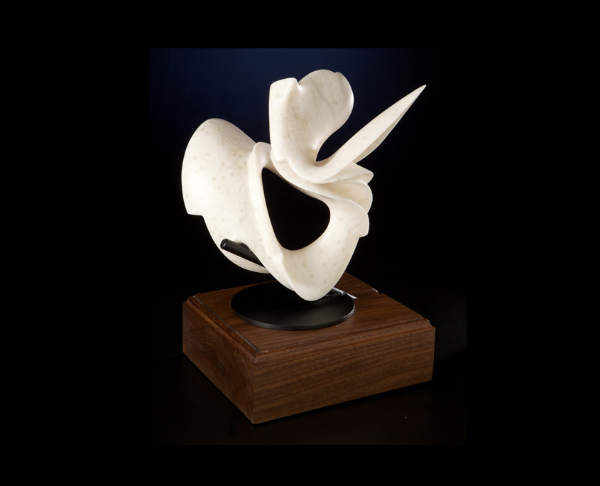Sculpture - First Half - Colorado Alabaster and Steel