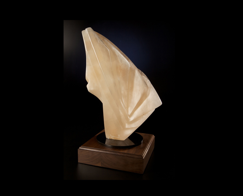 Alabaster Sculpture - Translucent Transparency by Brian Grossman
