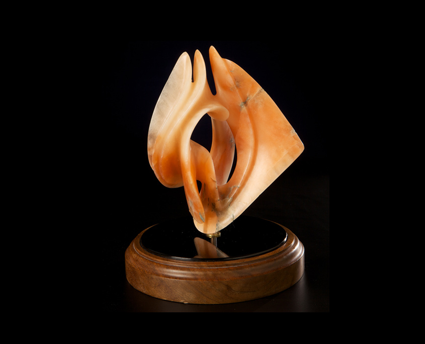 Alabaster Sculpture - Untitled Model for small Bronze by Brian Grossman - 3rd view