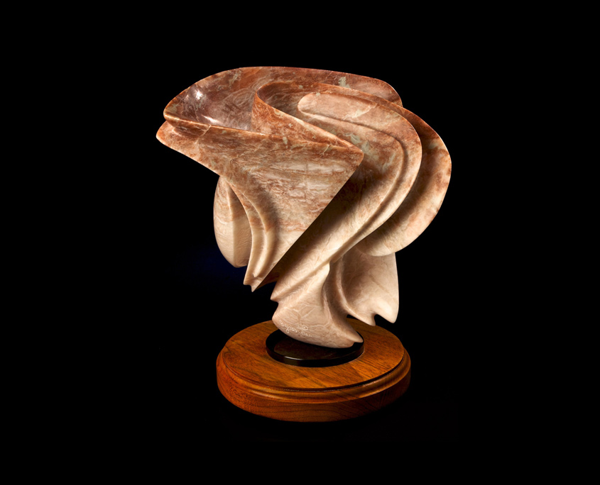 Alabaster Sculpture - Earth Tones by Brian Grossman