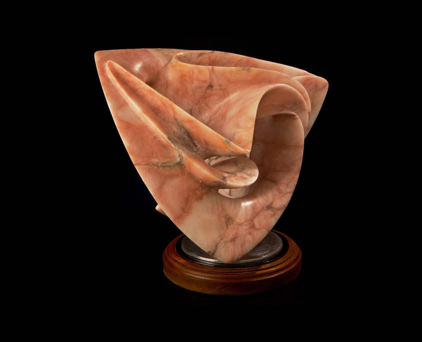 Alabaster lSculpture- Play Time by Brian Grossman - 2nd view