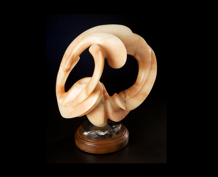 Alabaster Sculpture- Reunion by Brian Grossman