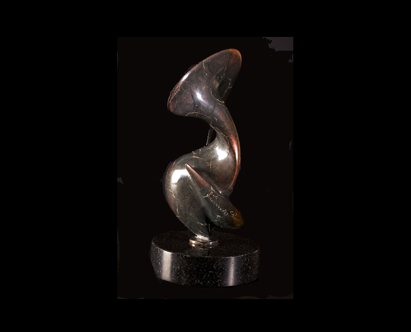 Bronze Sculpture - Birds of a Feather by Brian Grossman