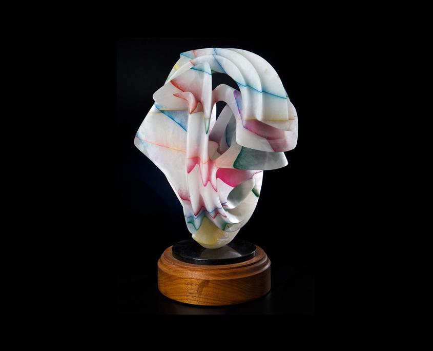Laminated Alabaster Sculpture - Court Jester by Brian Grossman - View 3