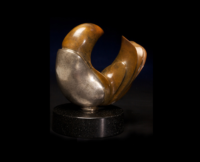 Bronze Sculpture - Escargot by Brian Grossman
