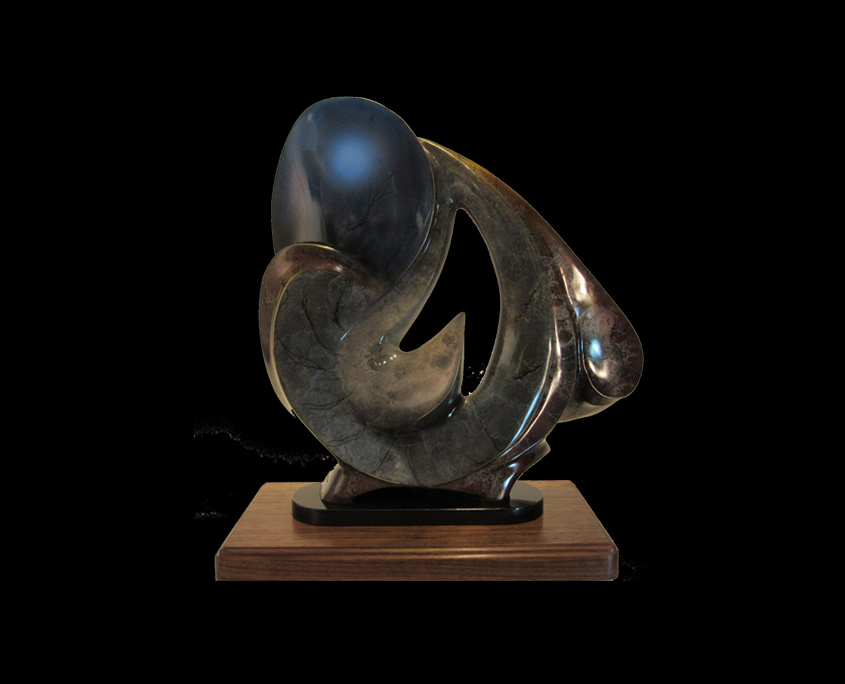 Bronze Sculpture - Flight/Full Moon at Sunrise by Brian Grossman