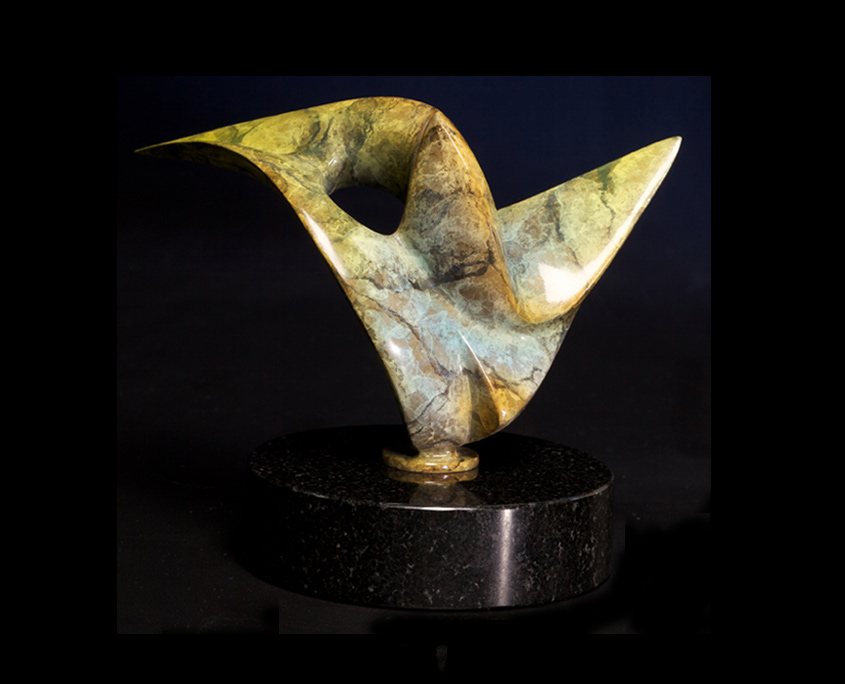 Bronze Sculpture - Hummingbird by Brian Grossman - 2nd view
