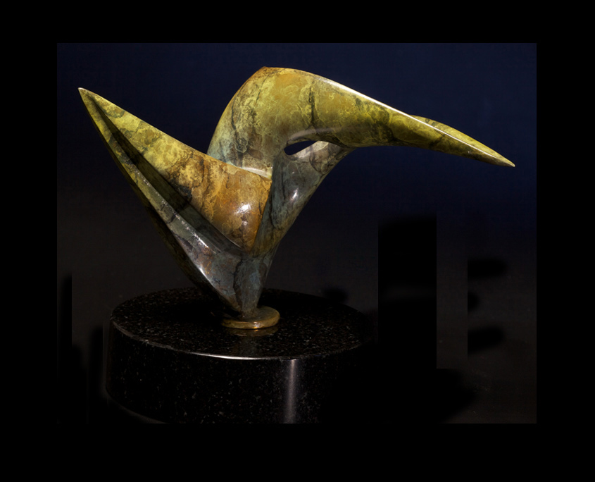 Bronze Sculpture - Hummingbird by Brian Grossman