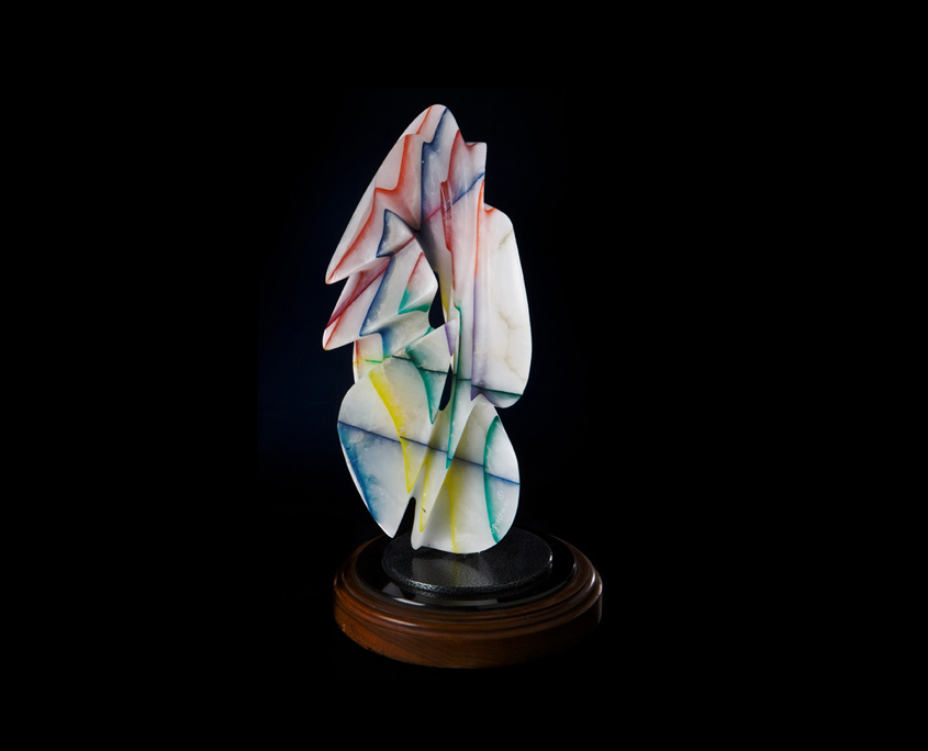 Laminated Alabaster Sculpture - Iced Delight by Brian Grossman - View 2