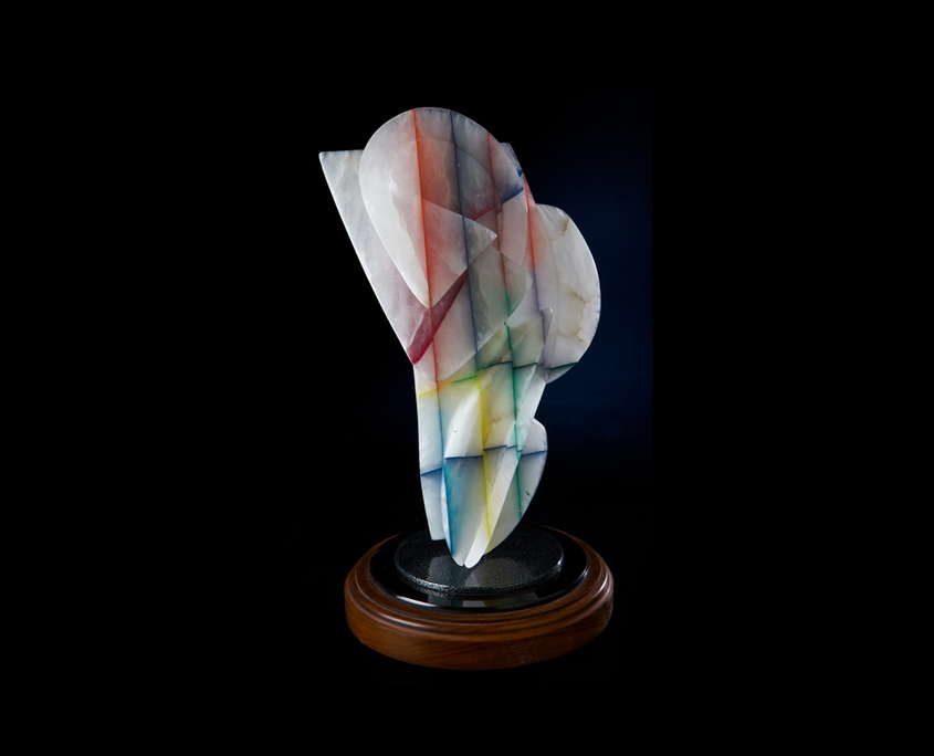 Laminated Alabaster Sculpture - Iced Delight by Brian Grossman - View 3