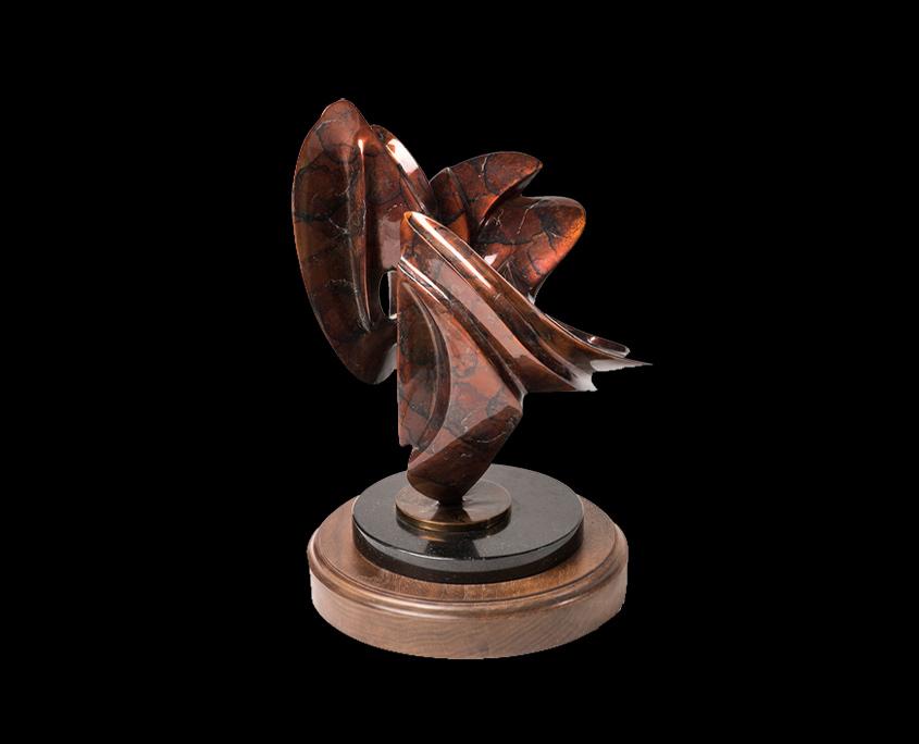 Bronze Sculpture - Internal Reflections II by Brian Grossman