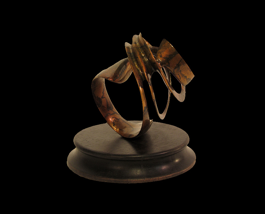 Bronze Sculpture - Looking for Approval III by Brian Grossman