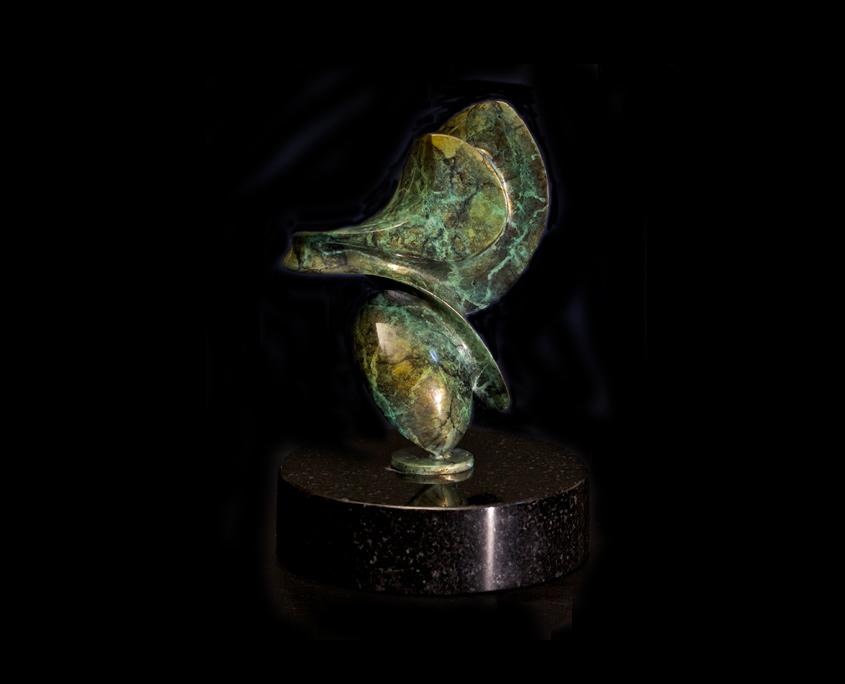 Bronze Sculpture - Of Balance by Brian Grossman - 2nd view