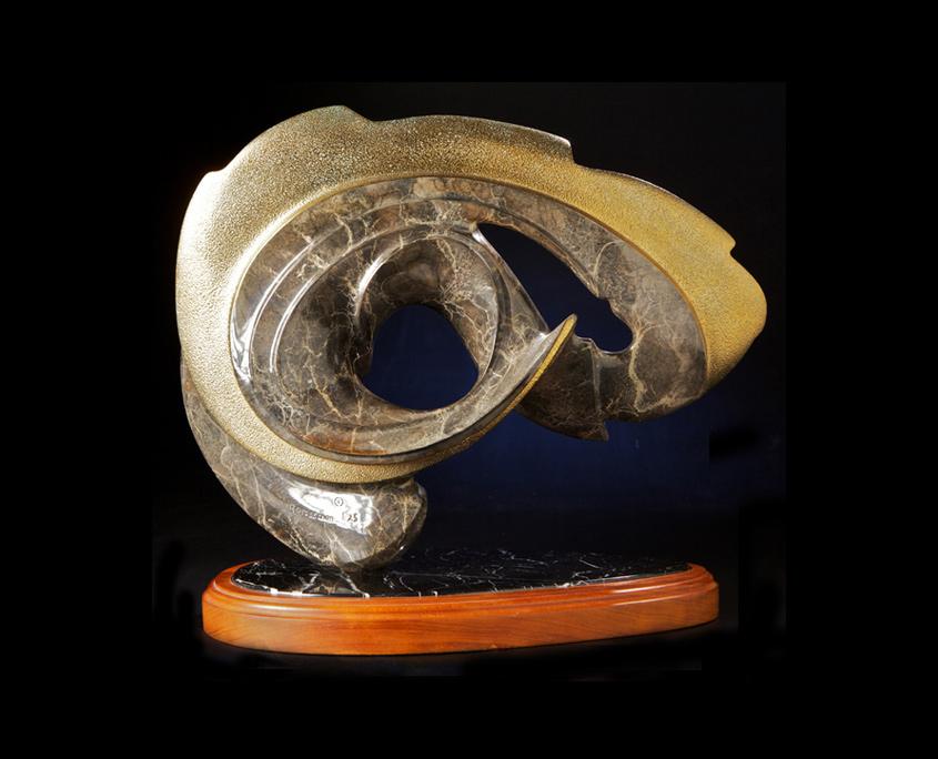 Bronze Sculpture - Seaside by Brian Grossman