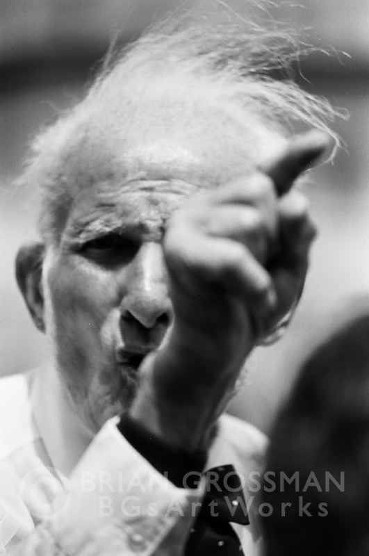 B&W Photograph- Finger Pointer by Brian Grossman