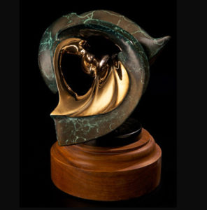 Bronze Sculpture - Internal Reflections by Brian Grossman