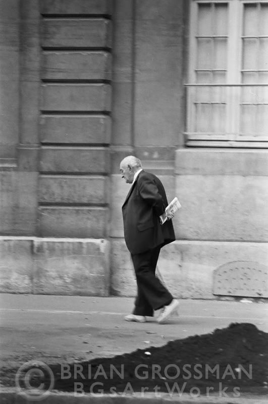 B&W Photograph - Taking a Stroll by Brian Grossman
