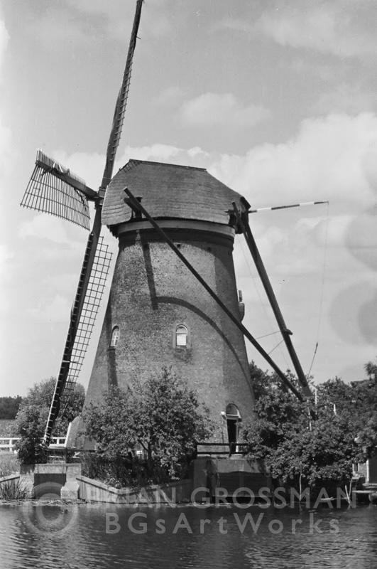 B&W Photograph - Windmill by Brian Grossman